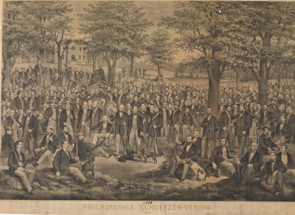 The Philadelphia Schuetzen Verein 1869. Source: Philadelphia Library Company