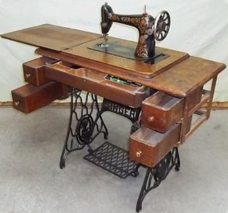 7-1 steam punk potty sewing table vanity